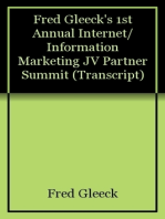 Fred Gleeck's 1st Annual Internet/Information Marketing JV Partner Summit (Transcript)