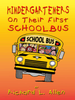 Kindergarteners On Their First School Bus