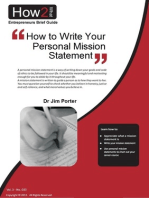 How to Write Your Personal Mission Statement