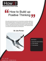 How to Build up to Positive Thinking