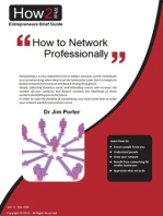 How to Network Professionally