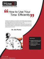 How to Use Your Time Efficiently