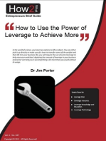 How to Use the Power of Leverage to Achieve More