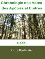 Chronologie Actes des apôtres et Epîtres