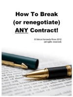 How to Break (or renegotiate) ANY Contract
