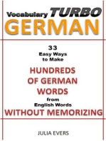 Vocabulary Turbo German 33 Easy Ways to Make Hundreds of German Words from English Words without Memorizing