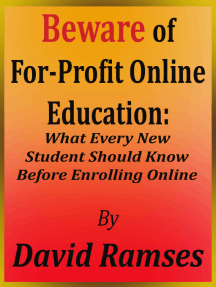 Beware of For-Profit Online Education: What Every New Student Should Know Before Enrolling Online