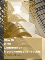 How to Write Construction Programmes & Schedules