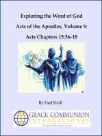 Exploring the Word of God Acts of the Apostles Volume 5