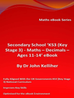 Secondary School 'KS3 (Key Stage 3) - Maths – Decimals – Ages 11-14' eBook