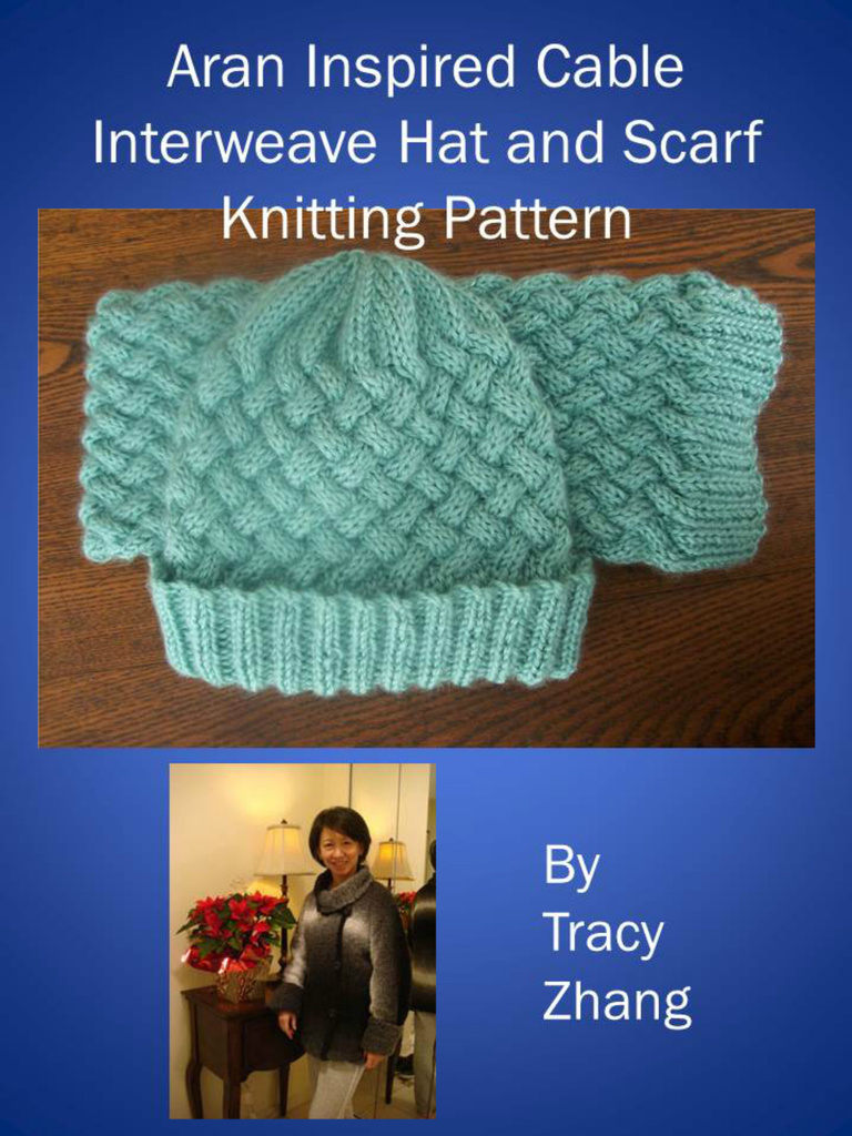 Aran Inspired Cable Interweave Hat and Scarf Knitting ...