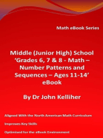 Middle (Junior High) School 'Grades 6, 7 & 8 - Math – Number Patterns and Sequences - Ages 11-14' eBook
