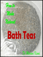 How to Make Handmade Homemade Natural Bath Teas