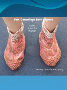 Pink Camouflage Boot Slippers Knitting Pattern