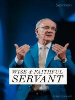 Wise & Faithful Servant (sermon)