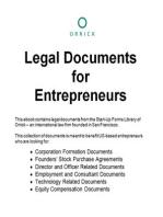 Legal Documents for Entrepreneurs