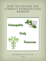 How to Choose the Correct Homeopathic Remedy