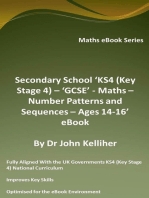 Secondary School 'KS4 (Key Stage 4) – 'GCSE' - Maths – Number Patterns and Sequences – Ages 14-16' eBook