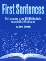 First Sentences