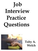 Job Interview Practice Questions