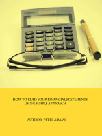 How To Read Your Financial Statements