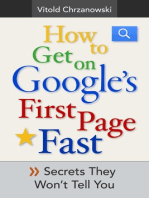 How to Get on Google's First page FAST