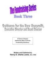 The Fundraising Series: Book 3 - Guidance For The New Nonprofit