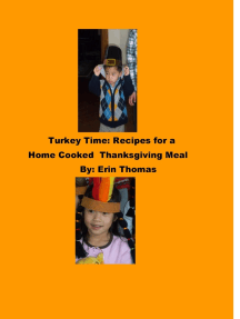 Turkey Time: Recipes for a Home Cooked Thanksgiving Meal