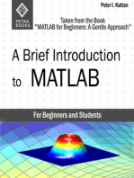 A Brief Introduction to MATLAB