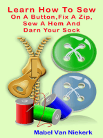 Learn How To Sew On A Button, Fix A Zip, Sew A Hem And Darn Your Sock