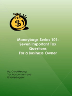 Moneybags Series 101: Seven Important Tax Questions for a Business Owner