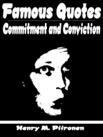 Famous Quotes on Commitment and Conviction