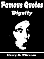 Famous Quotes on Dignity