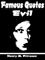Famous Quotes on Evil