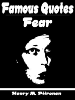Famous Quotes on Fear