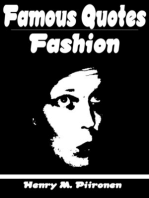 Famous Quotes on Fashion