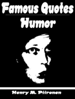 Famous Quotes on Humor