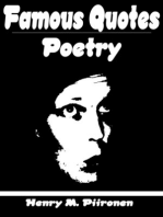 Famous Quotes on Poetry