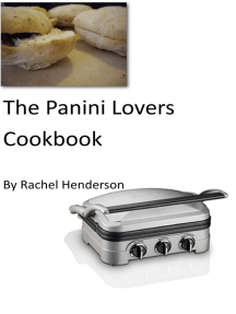 The Panini Lovers Cookbook