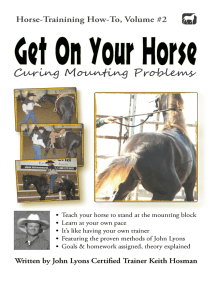 Get On Your Horse: Curing Mounting Problems
