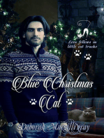 Blue Christmas Cat