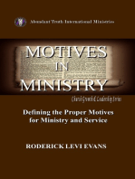 Motives in Ministry