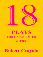 18 Plays For Untalented Actors