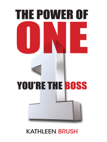 The Power of One: You're the Boss
