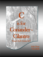 C is for Coriander: Cilantro