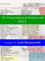 The Writing Submission Schedule Guide 2013