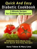 Quick And Easy Diabetic Cookbook