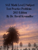 SAT Math Level 2 Subject Test Practice Problems 2013 Edition