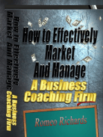 How to Effectively Market and Manage a Business Coaching Firm