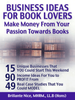 Business Ideas For Book Lovers